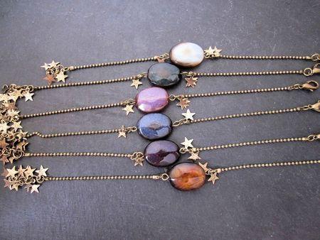 bracelet agate teintée 003