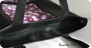 Sac cabas paillettes zip