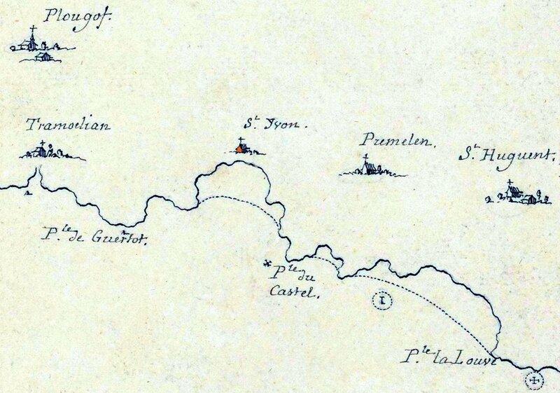 Ch30 - Ancienne carte du Cap-Sizun d'avant 1700