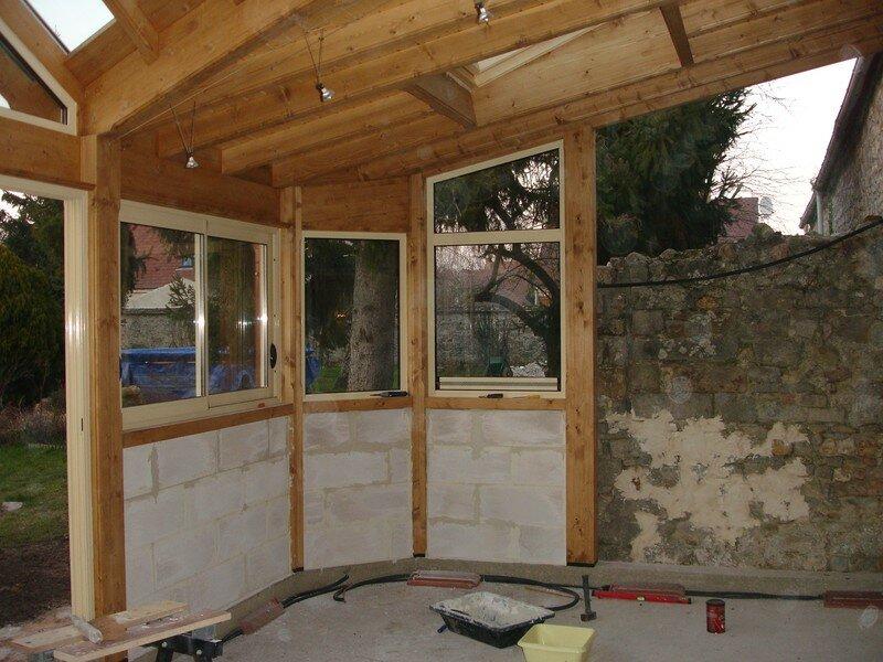 Veranda suite exterieur nos travaux for Construire une veranda en bois
