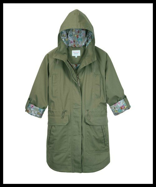 aigle paul & joe parka oxalis