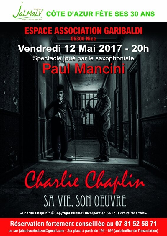 Affiche-Spectacle Chaplin