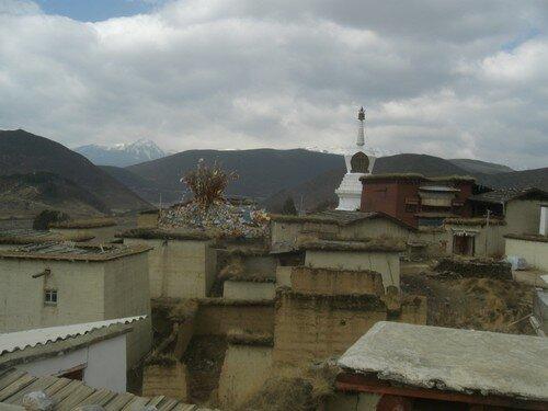 Vue depuis le monastere Songzanlin, Zhongdian