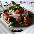 Tarte fine estivale saveur italienne