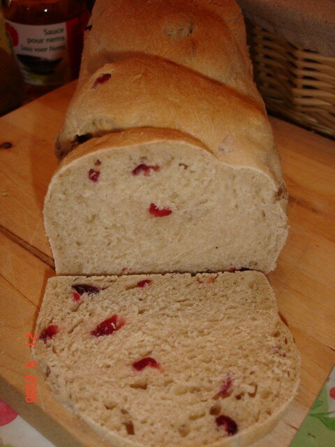 Pain aux Airelles (Cranberries/Canneberge)