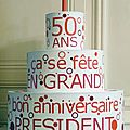 Gâteau d'anniversaire pour PUBLICIS AVENT