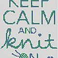 ** keep calm and knit on ** + free .