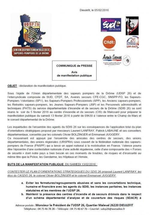 communiqué de presse SP de la Drôme