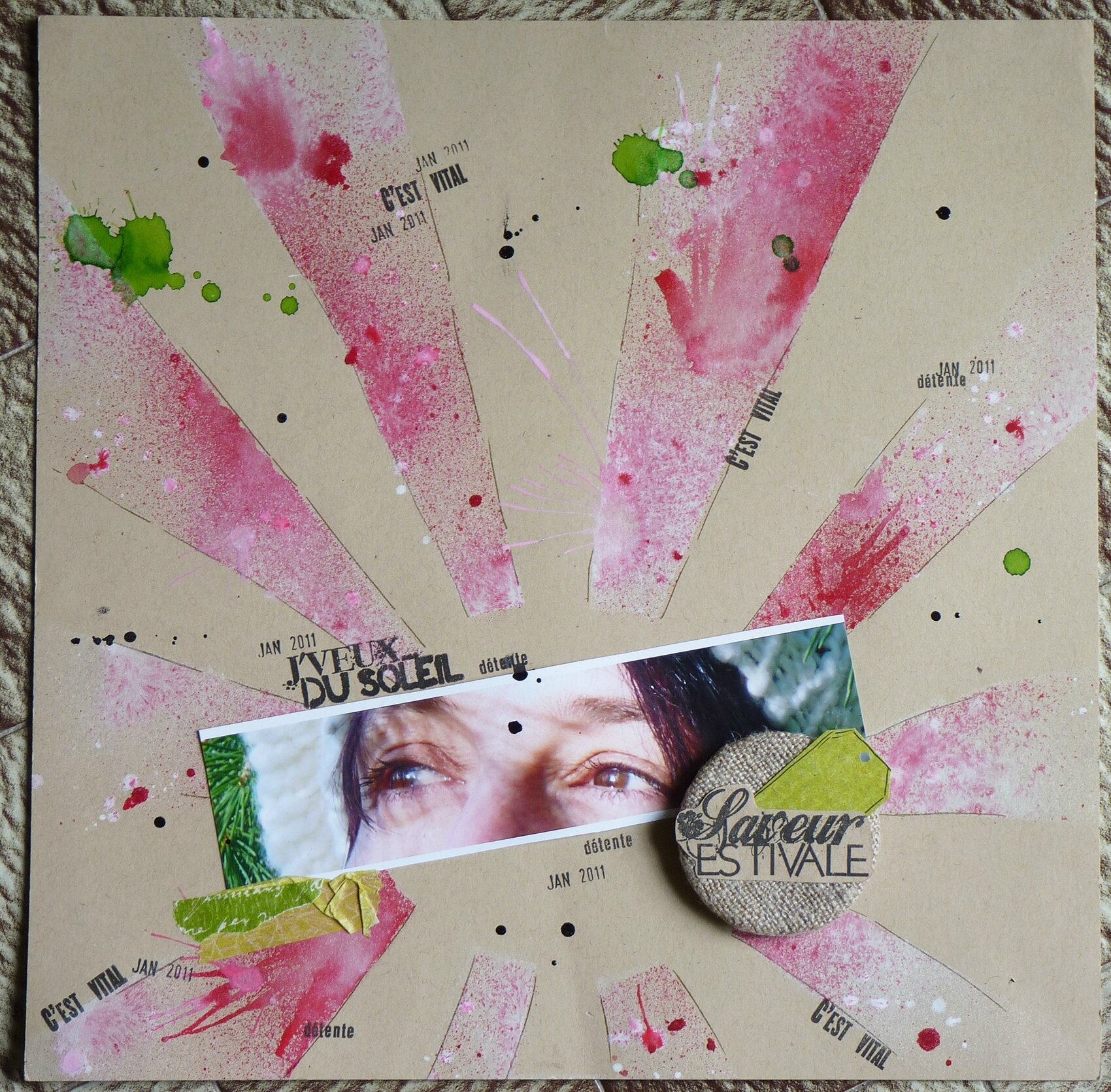 2 pageounettes scrapbignou for Badge fait maison