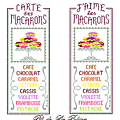 J'AIME + CARTE des MACARONS