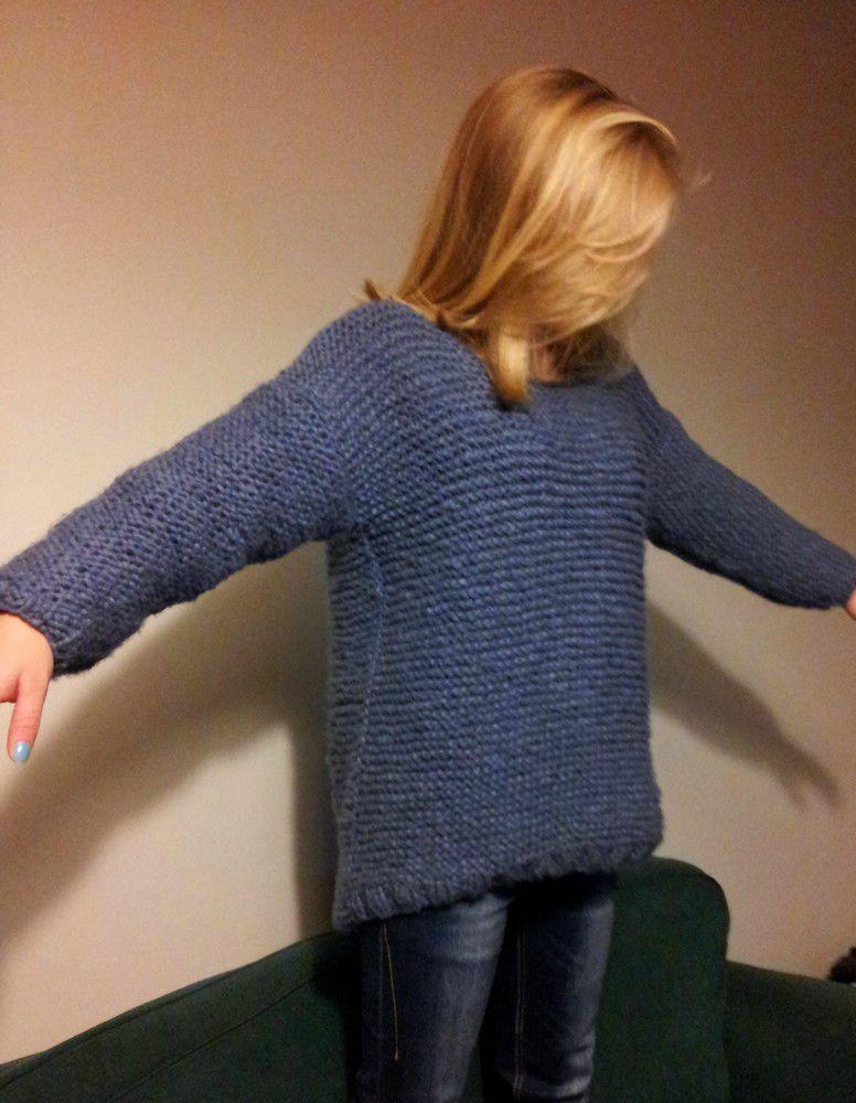 Tricoter un pull avec des aiguilles circulaires - Aiguille a tricoter geante ...