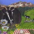 affiche chèvre