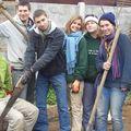 los compagnons con Cristián Palma, voluntario amigo