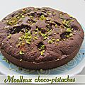 Moelleux chocolat pistache