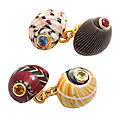 Trianon. sea shell cufflinks