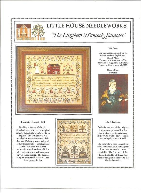 Elizabeth Hancock 1831 Little House of Needlework