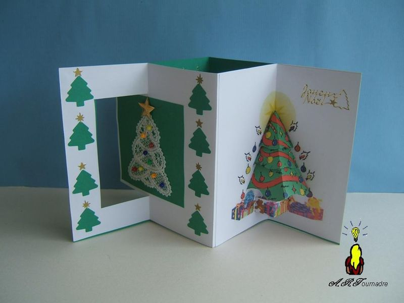 Connu cARTe pop-up : les sapins - Les passions d' ART AV06