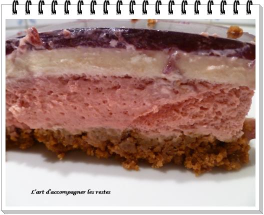 bavarois framboises, spéculos, chocolat blanc4