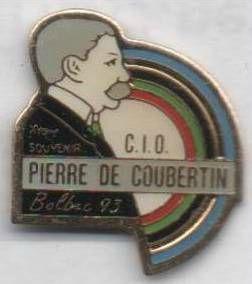 Pin's 1993 Pierre de Coubertin