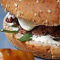 038 & 039 veggie burger et ses frites de patates doucement épicées