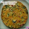 Flan de courgettes & tomates