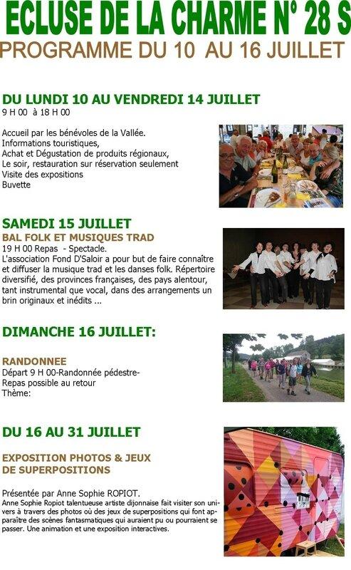 Programme_Ecluse de la Charme_Du 10 au 16 juillet