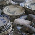 Des assiettes terre de fer saucissonnées