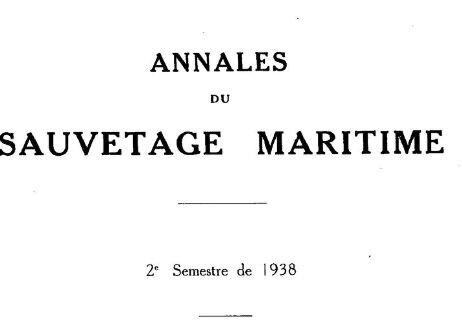 1938 Annales de sauvetage en Mer_1