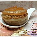 Macarons chocolat blanc et caramel