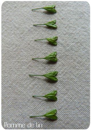 feuilles coeur ligne