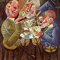Les joueurs de carte, otto dix, 1920