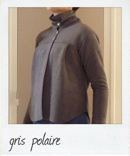 Patron veste polaire femme