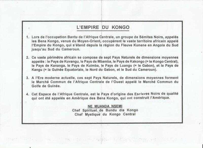 L'EMPIRE DU KONGO a