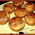 Muffins chèvre courgettes