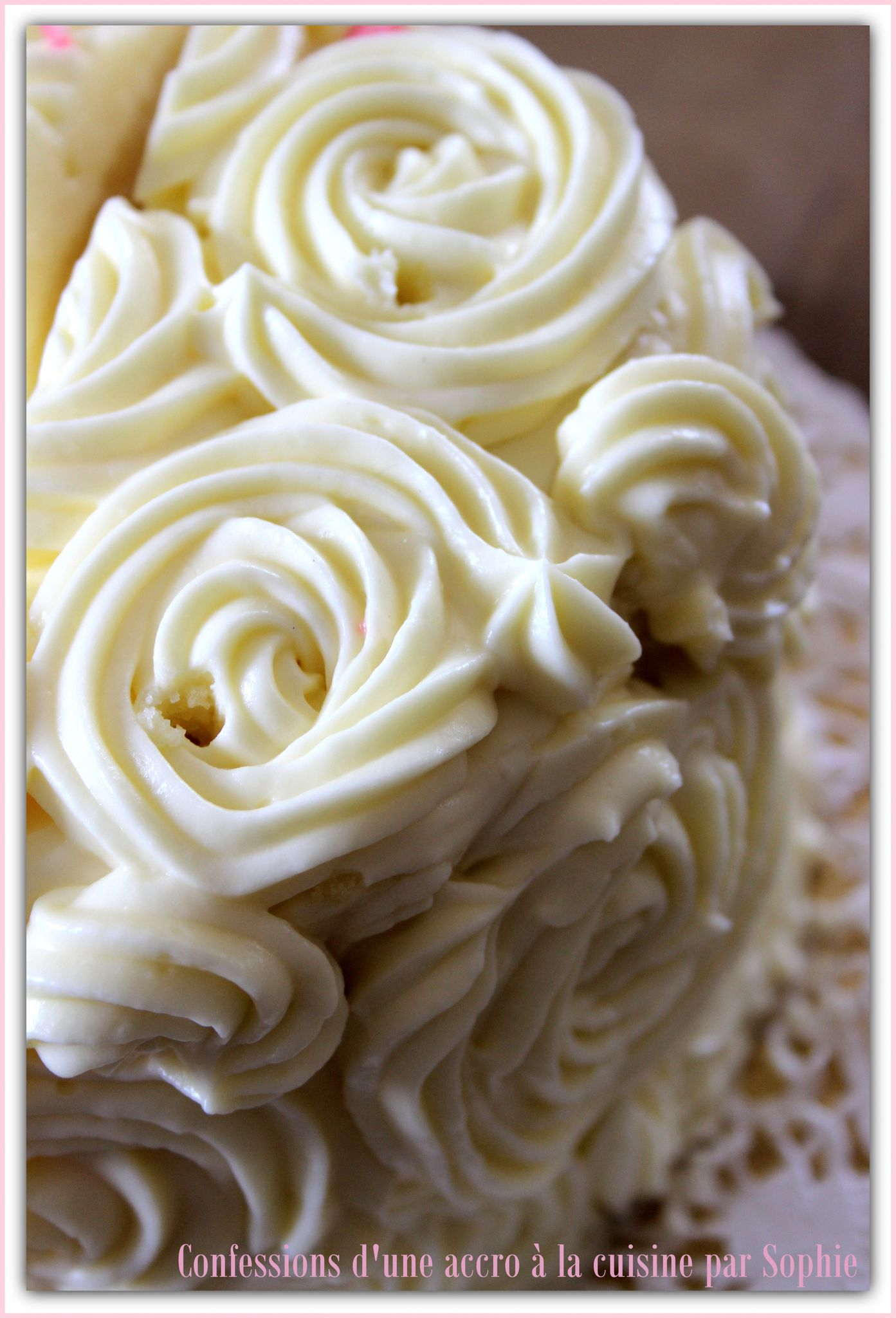 Gla age au cream cheese confessions d 39 une accro la - Decoration gateau avec creme chantilly ...