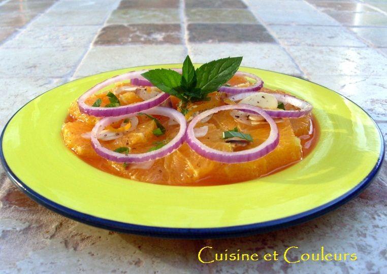 Salade d 39 oranges au miel d 39 oranger et l 39 oignon rouge cuisine - Cuisine couleur miel ...