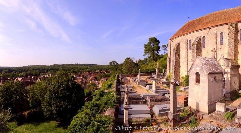 Eglise de Rochefort en yvelines et son cimetière