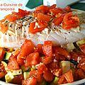 Cabillaud rôti aux légumes d'eté