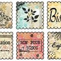 planche timbres maison