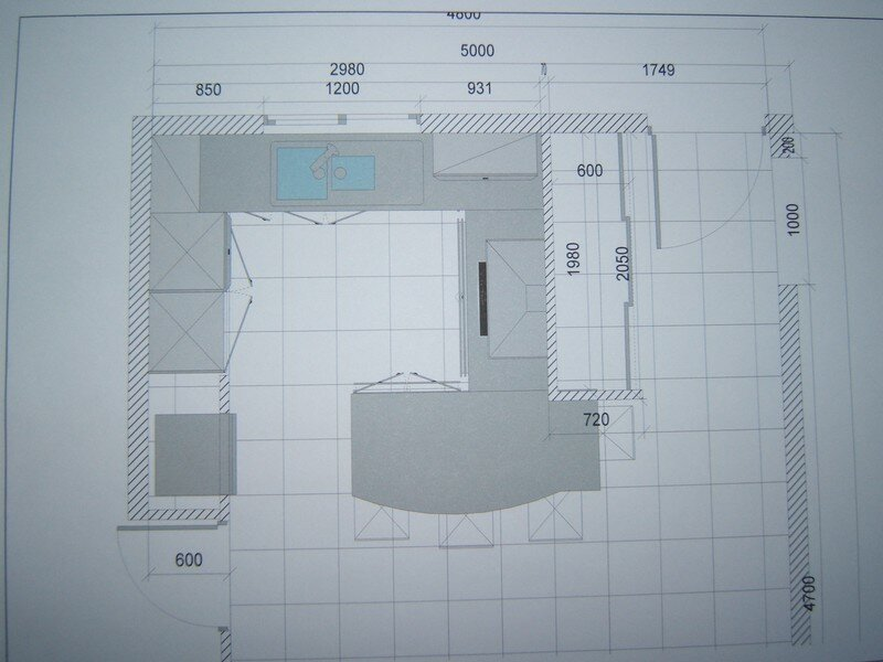 Plan amenagement cuisine amnagement de cuisine en u for Plan amenagement cuisine 10m2