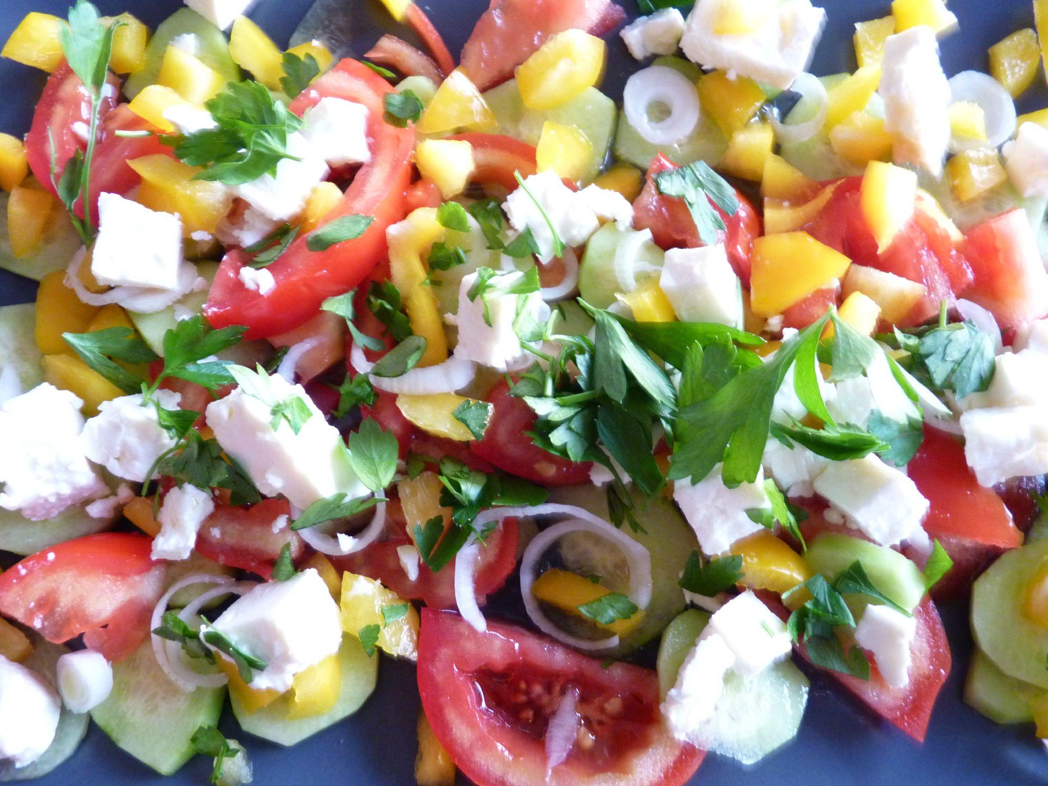 Recette 1  salade grecque
