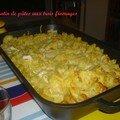 Gratin de pâtes aux trois fromages