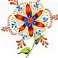 fleur feutrée