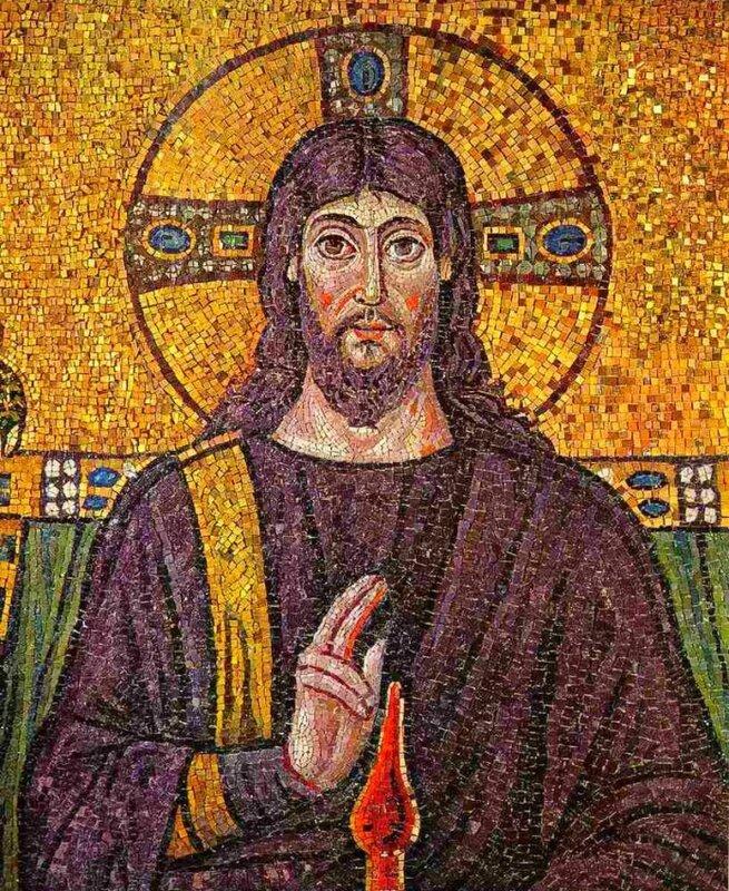 Christ, mosaïque de Ravennes