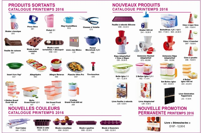 voila les changements sur le nouveau catalogue printemps 2016 tupperware sur bordeaux. Black Bedroom Furniture Sets. Home Design Ideas