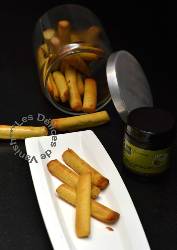 pistache, fingers, biscuit, gouter rapide, idée recette pate de pistache