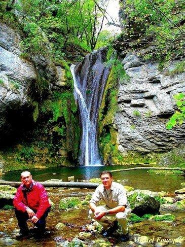 7) cascade d'Hauteroche vers marchamp bugey