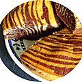 Classic zebra cake