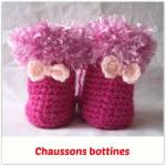 chaussons bebe bottine tuto