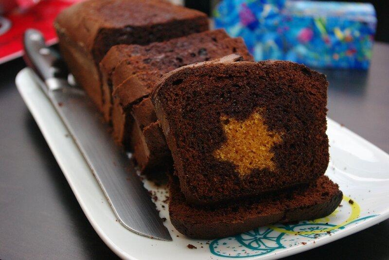 Gâteau au chocolat étoilé